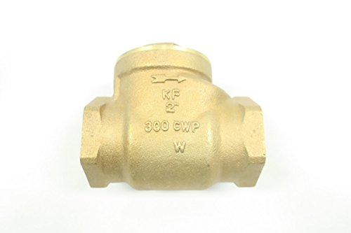 KF VALVES 31B Bronze Threaded 2IN NPT Swing GATE Check Valve 300CWP D589406 ()