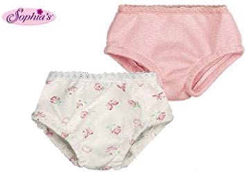 3pk Panties-Blue,White,Pink for 18 inch American Girl Doll Clothes Underwear