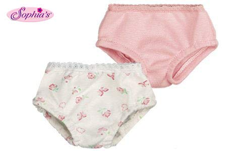 Sophia's Pink & Print Doll Underwear Set, Fits 18 Inch American Girl Dolls, Doll Underwear Set
