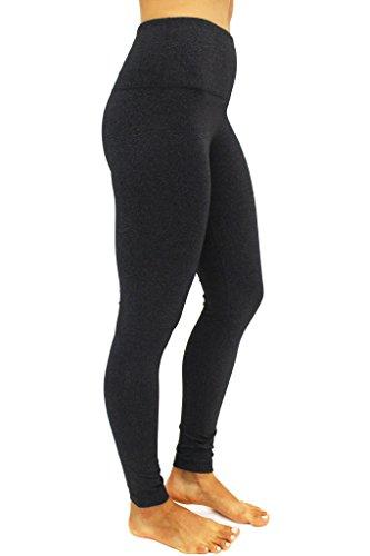 90 Degree By Reflex - High Waist Power Flex Legging - Tummy Control - Heather Charcoal Small