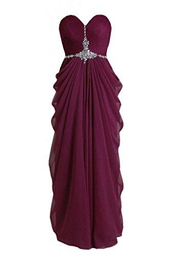 Daisyformals Robe Longue Robe De Soirée Perles Robe De Bal Plissé (pr72168) Vin