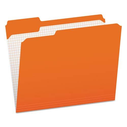 (Reinforced Top Tab File Folders, 1/3 Cut, Letter, Orange, 100/Box, Sold as 100 Each)