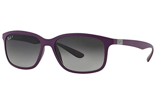 - Ray-Ban RB4215 Sunglasses Dark Violet / Polarized Grey Gradien 57mm