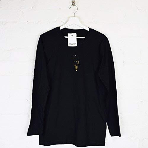 Hip larga xxl Dato Multitud Camiseta Asap Negro de Lord A Hop Flocko bordado real Rocky Rap s manga Ap pwpva