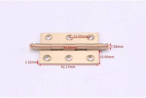 1.5mm Invisible Se Pliant Charni/ère Clip de Tiroir Darmoire Connecteurs pour Darmoire Porte Placard et Tiroir 39 CAOLATOR 2pcs Mini Charni/ère de Meuble en Laiton 62