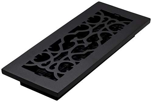 Decor Grates AC412-BLK Victorian, Cast Iron Black RegisterVictorian Floor Register, 4 x 12 4x12 Victorian Floor Register