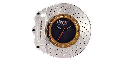 Auto Art Corvette Brake Disc Wall Clock Amazoncouk Kitchen Home