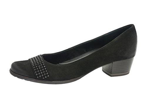 Marco Tozzi - Zapatos de vestir de cuero nobuck para mujer