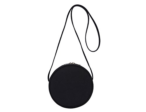 Small Crossbody Purse Shoulder Bag Round Crossbody Wallet Ladies Women Fashion Circle Crossbody Purse Clutch Handbag Round Tote Bag Satchel Purse (Black)