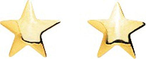 Robbez Masson - 650019 : Boucles d'oreille Enfant Or 9K jaune - Etoile