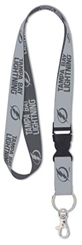 (Wincraft NHL Tampa Bay Lightning Premium Lanyard Key Chain, Charcoal Edition)