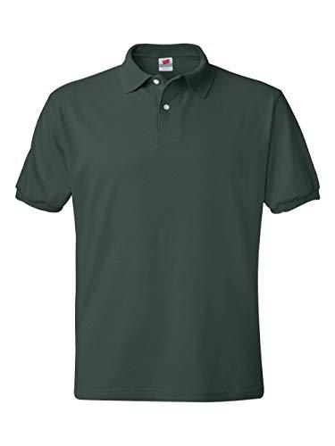 Hanes Men's 5.2 oz Hanes STEDMAN Blended Jersey Polo, XL-Deep ()