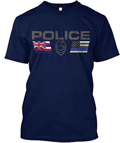 Hawaii Police Logo S - Navy Tshirt - Hanes Tagless Tee ()