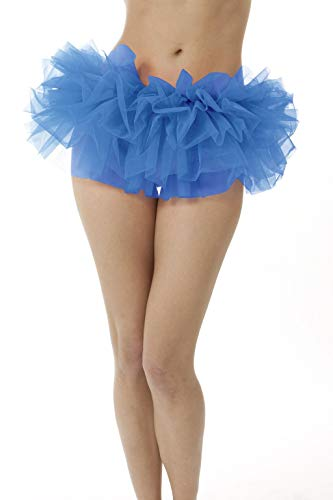 Adult Poofy Tutu for Halloween Costume, Princess Tutu, Ballet Tutu, Dance Outfit, or Fun Run in Child, Standard and Plus (X-Large, Peacock Blue) ()