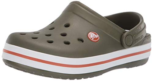 (Crocs Kids' Crocband Clog,army green/burnt sienna,12 M US Little Kid)