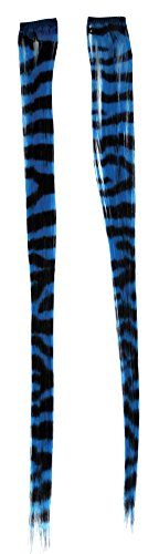 Costume-Accessory Hair Extension Turquoise Zebra Halloween Costume Item - 1 size