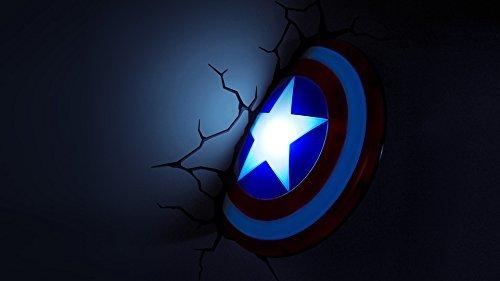Marvel avengers 3d deco wall lights captain america shield night marvel avengers 3d deco wall lights captain america shield night light aloadofball Gallery