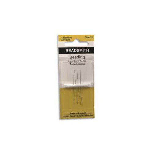 Beading Needles, Size 15, Package of 4 Needles. ()