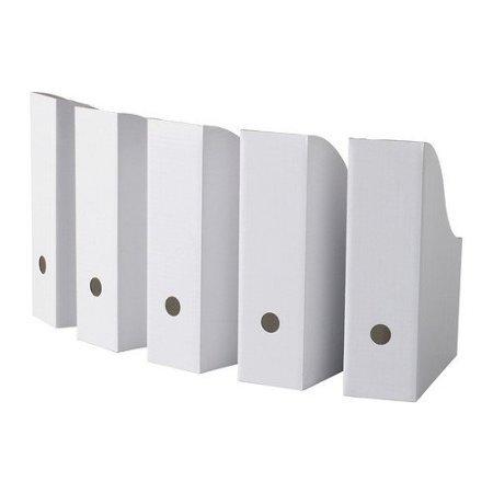 Ikea Flyt 500.223.54 Magazine File, White (5-Pack), Set of 3