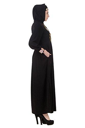 Hijab Jilbab Musulmano 624 Nero Burqa Vestito Con Abbigliamento Ay Abaya Maxi Islamico Mybatua ECpqxUwtC