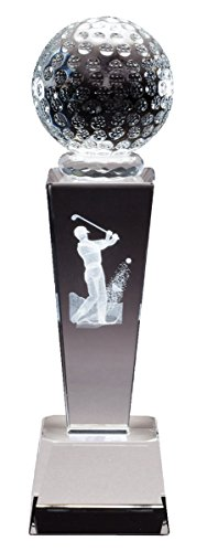 (Order Fast Awards Crystal Golf Collegiate Series Male Personalized Sports Award Free Engraving)