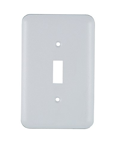 GE Vinyl Coated Single Switch Wall Plate, Formal White 52296