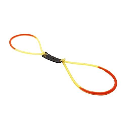 OYAN スリングショット 付属品 パチンコ 交換ハンド 替えゴム ゴムバンド 平ゴム 丸チューブ 2色*5個の商品画像