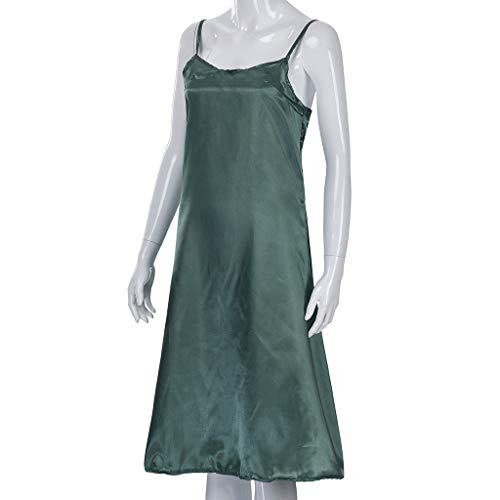 YKARITIANNA Women's Summer Solid Color Silk Sling Fashion Dress Sling Dress ()