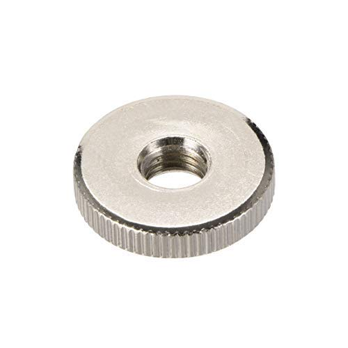 Knurled knurled Nuts DealMux Thin Type Threaded Female M10 Nickel-Plated Pack of 10