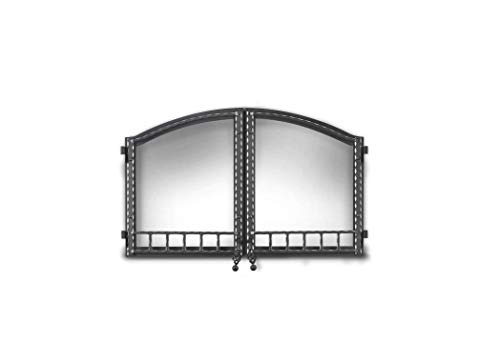 WOLF STEEL H335-1WI Napoleon H335-1Wi Nz6000 Arched Double Doors, Wrought Iron, Plastic, 7.5