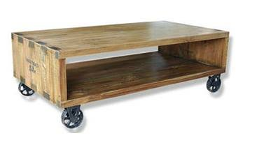 Plantation TV Unit or Low Coffee Table on Wheels Colonial
