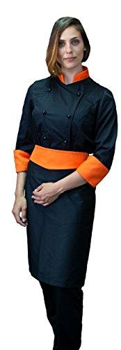 Taglie Casacca Colori Chef Bandane Uomo Donna Italy Astorino Xs Tessile Cuoco Nero Xxxxl In Da Donna A Giacca Made Arancione Vari E Pq54E8