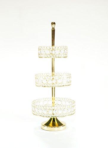Opulent Treasures Bling Three Tier Basket (Shiny Gold) (Opulent Treasures)