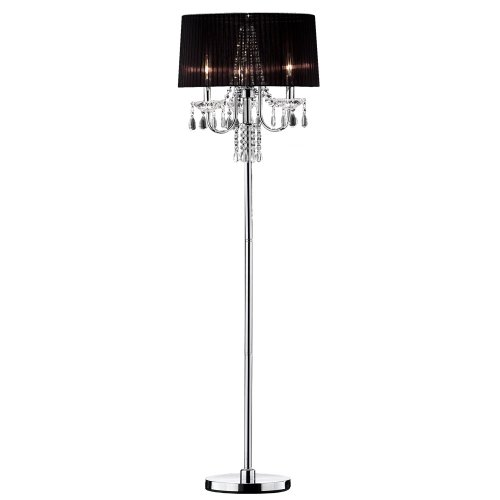 Ore International K-5111F Crystal Drop Floor Lamp, 61