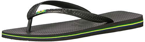 Havaianas Women's Brazil Sandal Flip Flop, black, 39 BR/9/10 W (Havaianas Brazil Black)