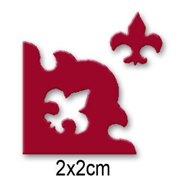Vaessen Creative Craft Paper Corner Rounder Punch, Fleur de Lis, for DIY Projects, Scrapbooking and Card Making, Multi-Colour, 14 x 10 x 5 cm ()
