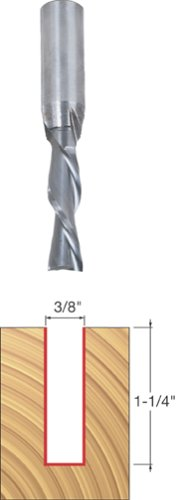 Flute 2 Down Router Spiral (Freud 3/8 (Dia.) Down Spiral Bit with 1/2 Shank (76-106))