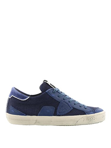 Umane Sneakers In Philippe Blu Pelle Modello Belucw10 xfTO8af