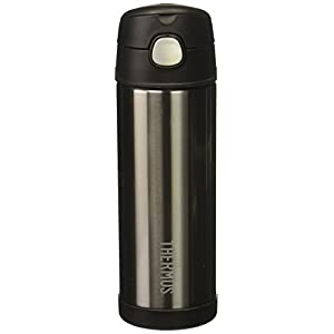 Thermos Funtainer 16 Ounce Bottle (Metallic Grey)