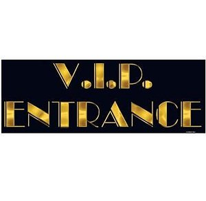 [VIP Entrance Sign Party Accessory (1 count)] (Hollywood Movie Costumes Inc)