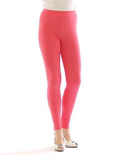 YESET Femme Legging longueur longues caleçons en coton SAUMON ROSE XXXL