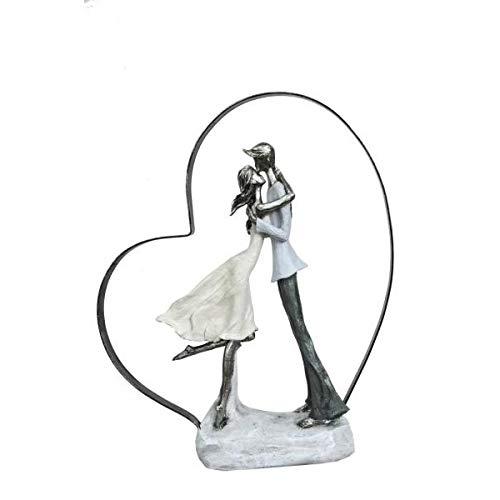 Sensational Kissing in Love Couple Cold Cast Bronze Sculpture Statue ()