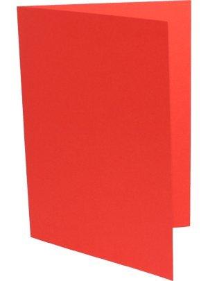 90 Doppelkarten DIN A6 korallenrot B003KVW6SA | Moderne Muster