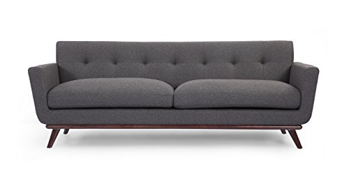 Kardiel Jackie Mid-Century Modern Classic Sofa, Cadet Grey Cashmere Wool