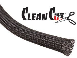 Techflex 3/4 Clean Cut Sleeving 25 ft. Black
