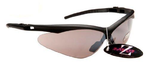 Rayzor Professional - Lunettes de soleil de sport spécial running ultra-légères à verres miroirs fumés anti réverbération - UV 400 - Noir