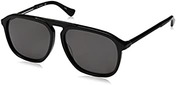 Calvin Klein Platinum Men's Modern Browline Pilot Sunglasses