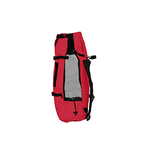 K9 Sport Sack | Dog Carrier Backpack for Small and Medium Pets | Front Facing Adjustable Pack with Storage Bag | Fully Ventilated | Veterinarian Approved (Small, Air - Ruby Red)