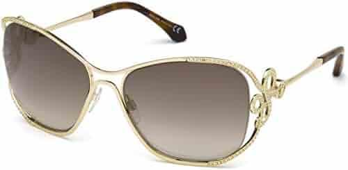 bd6f129ba092 Sunglasses Roberto Cavalli RC 1074 Lajatico 32G gold/brown mirror