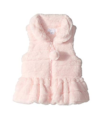 Mud Pie Baby Girl's Ruffle Fur Vest (Infant/Toddler) Pink LG (4T-5T Toddler)